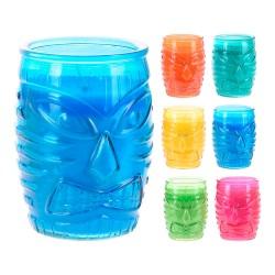 Vela citronela 160gr vaso cristal colores surtidos
