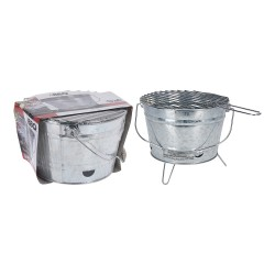 Barbacoa zinc barril