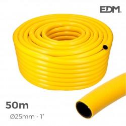 "Manguera agricola amarilla ø interior 25mm ø exterior 31mm (1"") rollo 50mts"