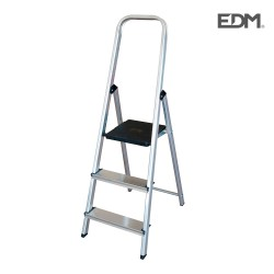 Escalera domestica aluminio 3 peldaños edm