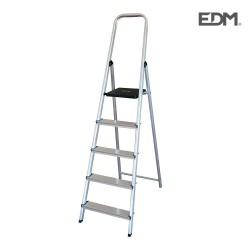 Escalera domestica aluminio 5 peldaños edm