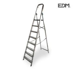 Escalera domestica aluminio 8 peldaños edm