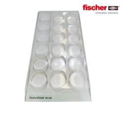 Soporte plastico para 18 tubos silicona fischer