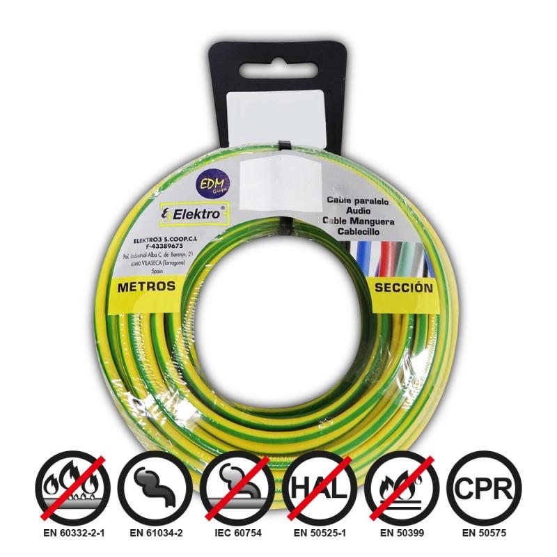 Carrete cablecillo flexible 2,5mm bicolor 20mts libre-halogenos