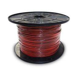 "Carrete paralelo ""audio"" 2x0,75mmm  rojo-negro 400mts (bobina pequeña)"