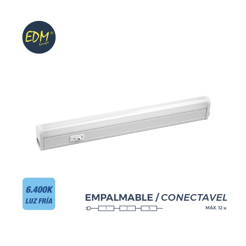 Regleta electronica led 18w 1550 lumens 113cm 6.400k luz fria edm