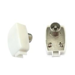 Conector macho acodado 13mm
