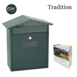 Buzon de acero modelo tradition verde