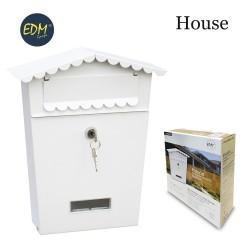 Buzon de acero modelo house blanco