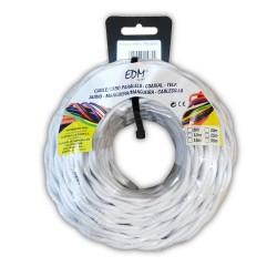 Paralelo textil trenzado 3x1mm blanco 25mts