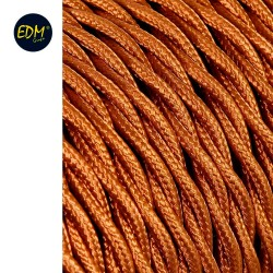Cable textil trenzado 2x0,75mm c-12 oro seda 5m