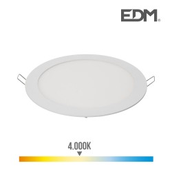 Downlight led empotrable 20w luz dia 4.000k 1500 lumens blanco edm